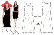 Style Arc Ladies Easy Sewing Pattern Cruise Club Kim Dress