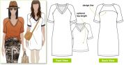 Style Arc Ladies Sewing Pattern Rowes Tunic Top
