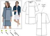 Style Arc Ladies Sewing Pattern Jema Panel Shift Dress