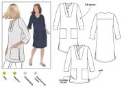 Style Arc Ladies Sewing Pattern Roslyn Tunic Dress