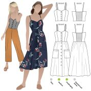 Style Arc Sewing Pattern Ariana Woven Dress