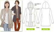 Style Arc Ladies Sewing Pattern Heidi Hooded Cardigan