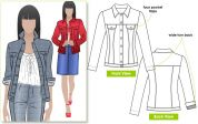 Style Arc Ladies Sewing Pattern Stacie Jean Jacket