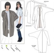 Style Arc Ladies Sewing Pattern Riley Coat