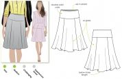 Style Arc Ladies Sewing Pattern Gorgeous Gore Skirt