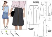 Style Arc Ladies Sewing Pattern Goldie Woven Skirt