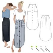 Style Arc Sewing Pattern Indigo Maxi Skirt