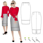 Style Arc Sewing Pattern Agatha Woven Skirt