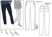 Style Arc Ladies Sewing Pattern Brooklyn Knit Pants