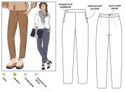 Style Arc Ladies Sewing Pattern Talia Pants