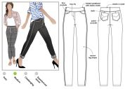 Style Arc Ladies Sewing Pattern Georgie Stretch Jeans