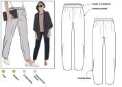 Style Arc Ladies Sewing Pattern Besharl Pants