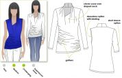 Style Arc Ladies Sewing Pattern Issy Knit Top
