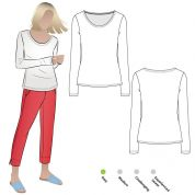 Style Arc Sewing Pattern Susan Knit Top