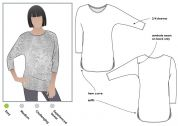 Style Arc Ladies Easy Sewing Pattern Fran Knit Top