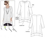 Style Arc Ladies Sewing Pattern Daisy Tunic Top