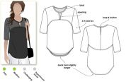 Style Arc Ladies Sewing Pattern Dixie Woven Top