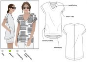 Style Arc Ladies Sewing Pattern Elani Tunic Top