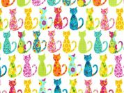 Michael Millar Calico Cat Poplin Quilting Fabric