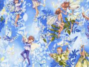 Michael Millar Dawn Fairies Poplin Quilting Fabric