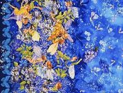 Michael Millar Dusk Fairies Border Poplin Quilting Fabric
