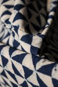 Merchant & Mills Block Print Cotton Fabric  Indigo