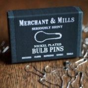 Merchant & Mills Nickel Plated Bulb Pins 21mm  Silver