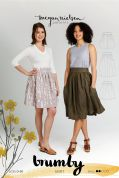 Megan Nielsen Ladies Easy Sewing Pattern 2204 Brumby Skirt