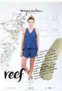 Megan Nielsen Ladies Easy Sewing Pattern 2401 Reef Camisole & Shorts Set