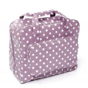 Hobby & Gift PVC Vinyl Sewing Machine Storage Bag Mauve Spot