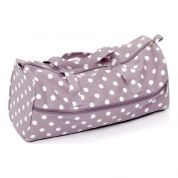 Hobby & Gift Knitting Bag Storage Mauve Spot