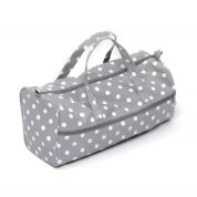 Hobby & Gift Matt PVC Knitting Bag Storage Grey Spot