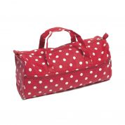 Hobby & Gift Value Spotty Knitting Craft Bag  Red