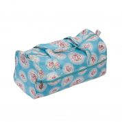 Hobby & Gift Knitting Bag Storage Cameo Floral Print  Blue