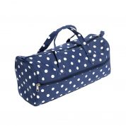 Hobby & Gift Knitting Bag Storage Spotty Print  Navy Blue
