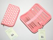 Hobby & Gift Value Crochet Hook Gift Set with Polka Dot Case  Pink