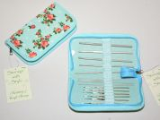 Hobby & Gift Value Crochet Hook Gift Set with Floral Case  Blue
