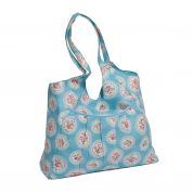 Hobby & Gift Craft Bag Storage Cameo Floral Print  Blue