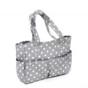 Hobby & Gift PVC Vinyl Craft Bag Grey Spot