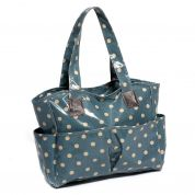 Hobby & Gift PVC Vinyl Craft Bag Storage Spotty Print  Blue