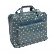 Hobby & Gift PVC Vinyl Sewing Machine Storage Bag Polka Dot Print  Blue
