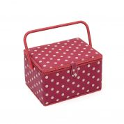Hobby & Gift Polka Dot Large Craft Storage Box  Red