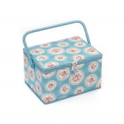 Hobby & Gift Cameo Floral Large Craft Storage Box  Blue