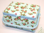 Hobby & Gift Floral Medium Craft Storage Box  Pink & Blue