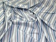 Lady McElroy Cotton Shirting Fabric  Blue