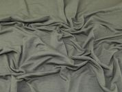 Lady McElroy Textured Jersey Knit Fabric  Khaki Green