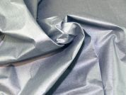 Lady McElroy Metallic Coated Linen Fabric  Silver