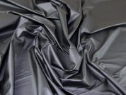 Lady McElroy Techno Shiny Suiting Fabric  Charcoal Grey