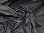 Lady McElroy Showerproof Sateen Fabric  Black