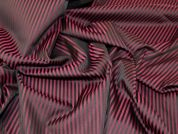 Lady McElroy 2 Tone Stripe Suiting Fabric  Wine